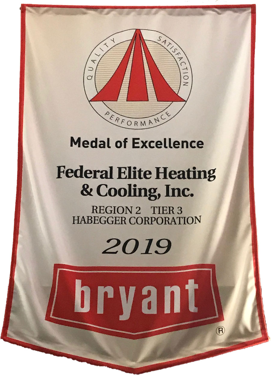 Federal Elite Heating & Cooling, Inc. - Medal Of Excellence Banner